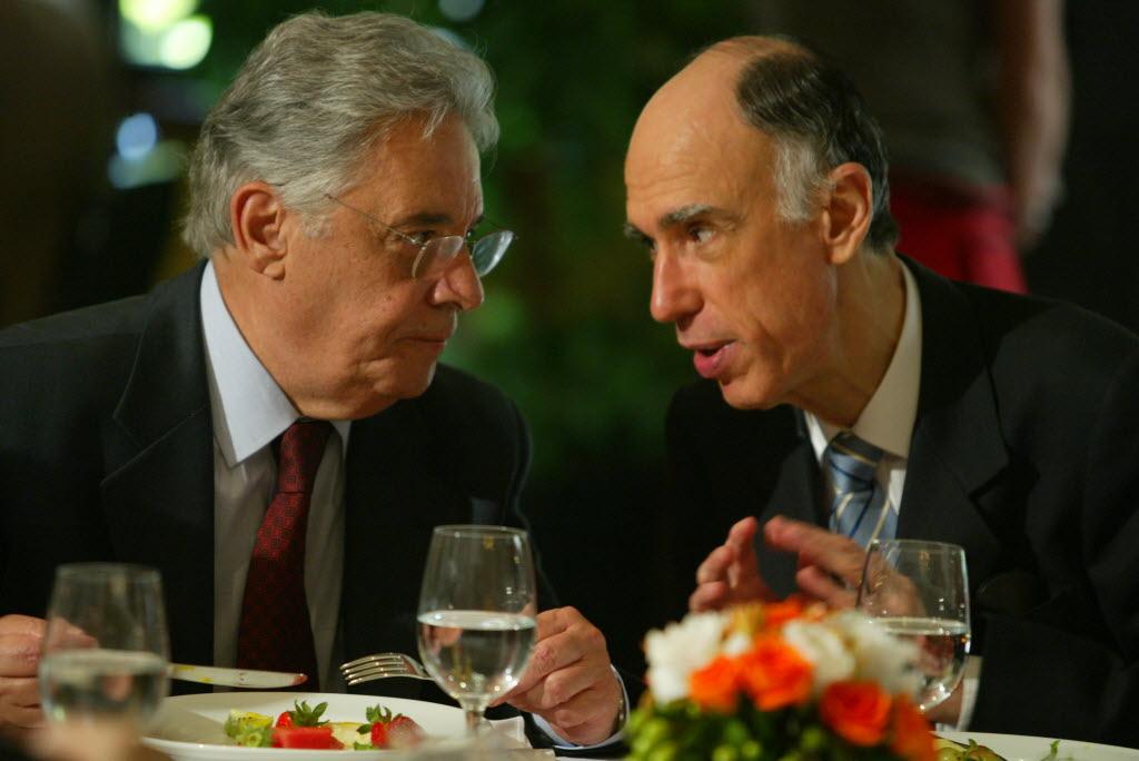 FHC e Marco Maciel, presidente e vice de 1995 a 2002 Foto de Tuca Vieira - 28.03.2005/Folhapress