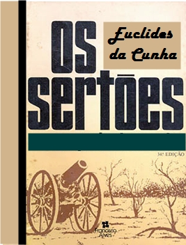 """Reprodução de antiga capa de """"Os Sertões"""""""
