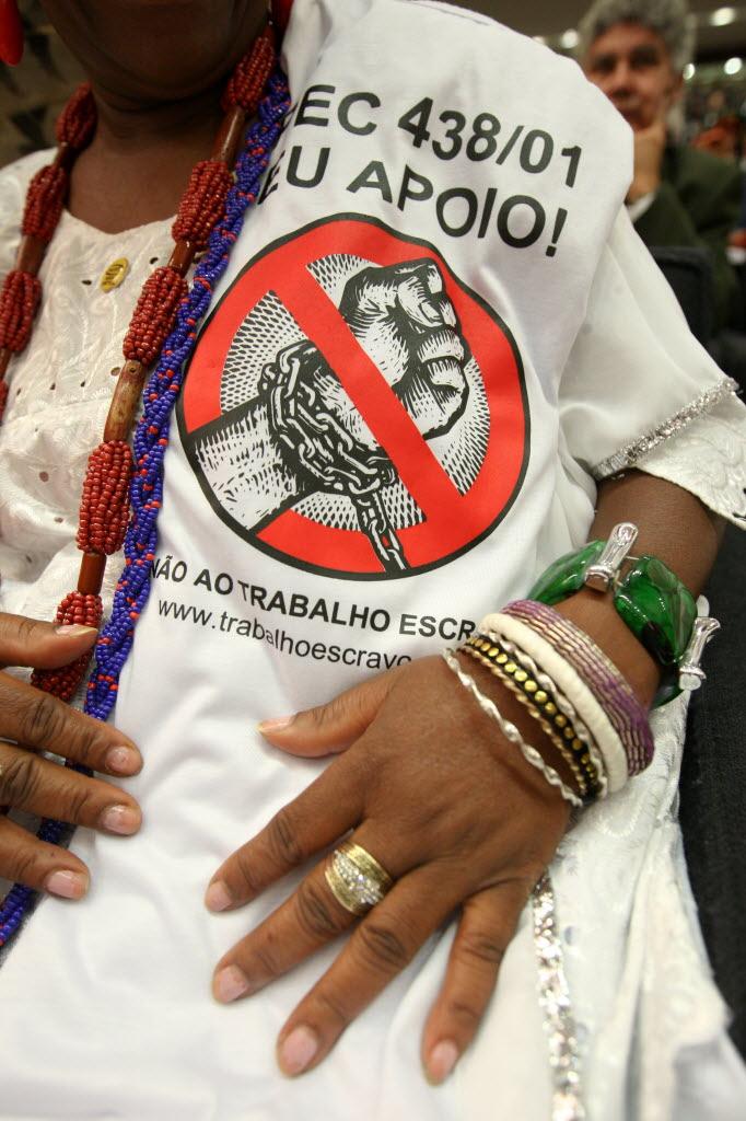 Na Câmara dos Deputados, movimentos Sociais pedem a aprovação da Emenda à Constituição do Trabalho Escravo Foto de Sérgio Lima - 08.05.2012/Folhapress