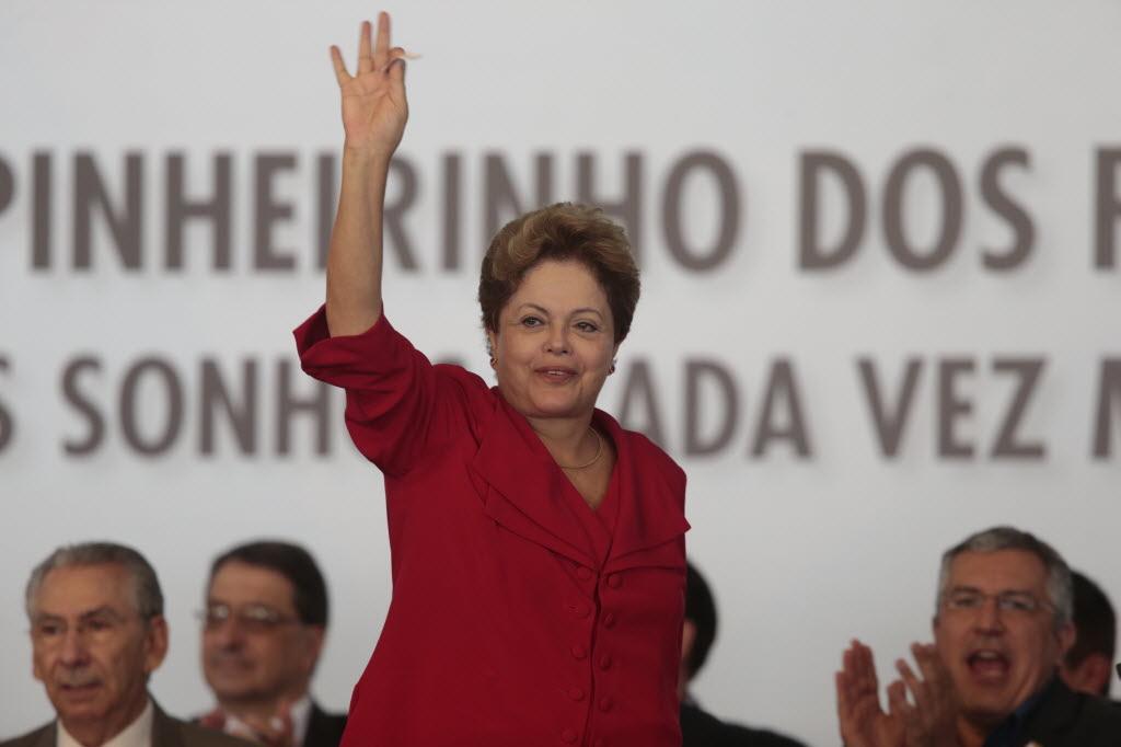 A presidente Dilma em evento do Minha Casa Minha Vida, em São José dos Campos (SP) Foto de Joel Silva - 25.03.2013/Folhapress