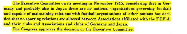 Reprodução de trecho de ata do 25º Congresso da Fifa