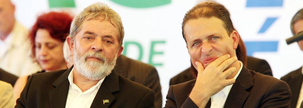 Lula e Campos, em evento no Recife Foto de Lula Marques - 20.03.2008/Folhapress