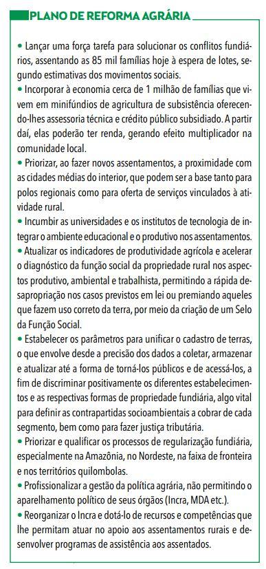 Trecho do programa de governo da candidata Marina Silva (PSB)