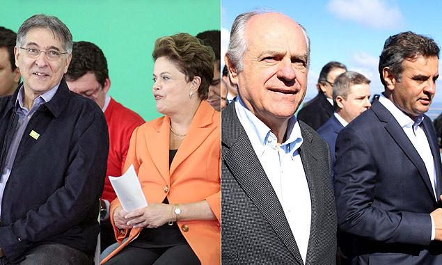 Fernando Pimentel (PT) e Pimenta da Veiga (PSDB), candidatos ao governo de MG