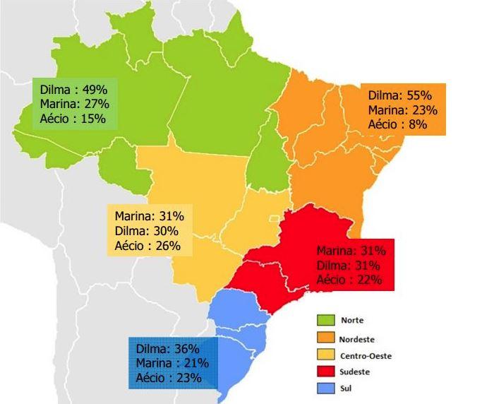 Conhecido Saiba como está a disputa ao Planalto por regiões, Estados e  YF75