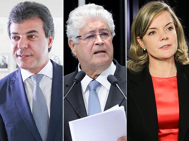 Richa, Requião e Gleisi, candidatos ao governo do Paraná