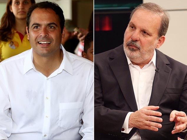 Paulo Câmara e Armando Monteiro Neto, candidatos ao governo de Pernambuco