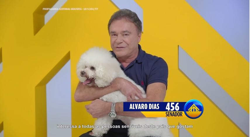 Programa eleitoral do senador e candidato à reeleição Alvaro Dias (PSDB-PR) - Reprodução de TV