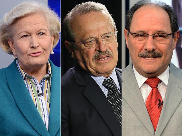 Ana Amélia, Tarso e Sartori, candidatos ao governo do Rio Grande do Sul