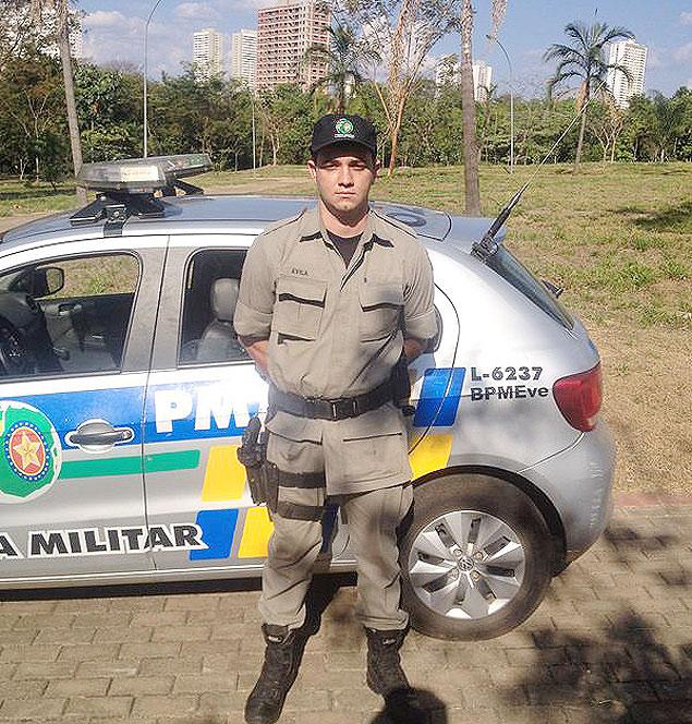Soldado Ávila, que foi colega de faculdade de Cadu em 2005 e o prendeu no último dia 1º, em Goiânia / Arquivo pessoal