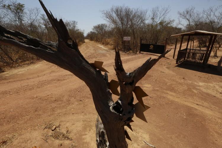 Guarita abandonada dentro do Parque Nacional da Serra da Capivara, no Piauí - Joel Silva/Folhapress