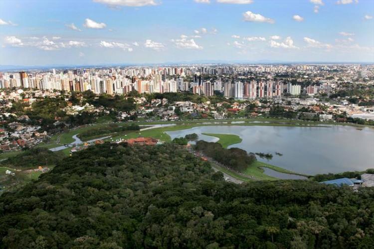 Vista aérea do Parque Barigui, em Curitiba (PR) - Foto: Divulgação
